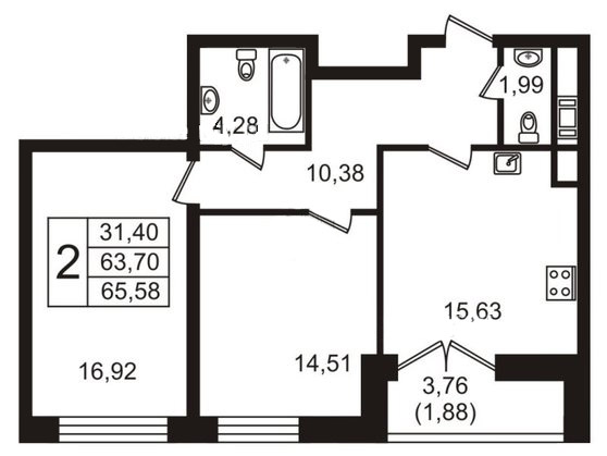 ЖК NEO. Планировка. Ремонт 2-комнатной квартиры