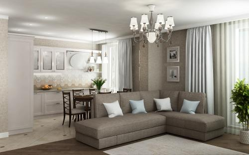 Ремонт по дизайн проекту двухкомнатной квартиры.