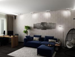 Ремонт и отделка однокомнатной квартиры.